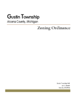 Gustin Township Zoning Ordinance